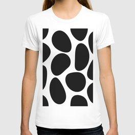 Black Stone Shapes on White Background - Retro Mood - Abstract #decor #society6 #buyart T-shirt