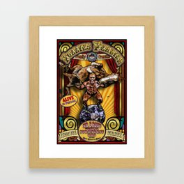 The Strongman: Sideshow Poster Framed Art Print