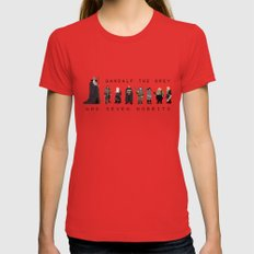gandalf the grey and seven hobbits Red MEDIUM Womens Fitted Tee