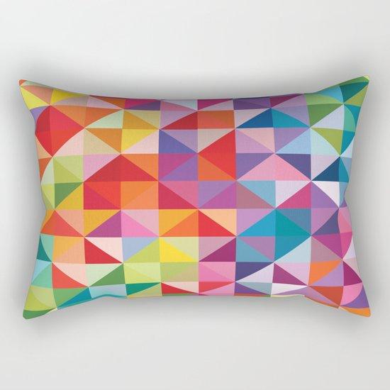 Geometric World No. 1 Rectangular Pillow