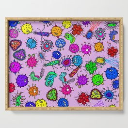 Bacteria Background Serving Tray