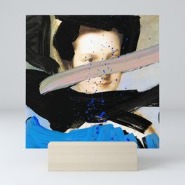 Picture of a Lady With Paint Smears Mini Art Print