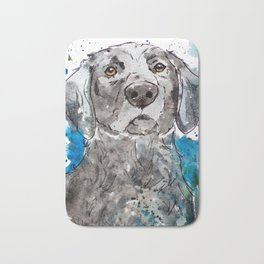 Black Lab Water Dog Artwork Bath Mat