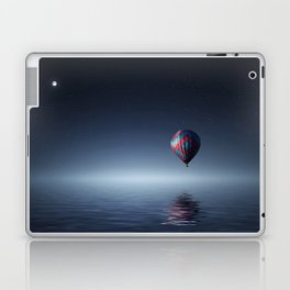 Hot Air Balloon Over Water Laptop & iPad Skin
