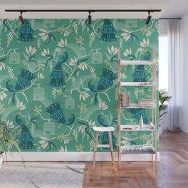 Aviary - Green Wall Mural