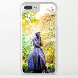 Eleanor Roosevelt Statue in Riverside Park Clear iPhone Case