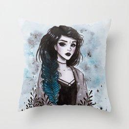 Day3 Inktober- Modern Witch Throw Pillow