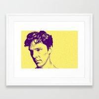 cumberbatch Framed Art Prints featuring CUMBERBATCH by Anile McLean