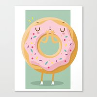donut Canvas Prints featuring Donut by Maria Jose Da Luz