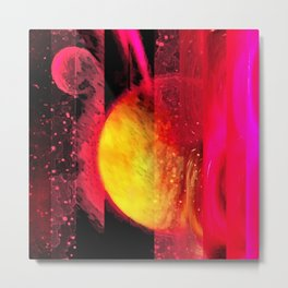 Saturn Inverted Metal Print