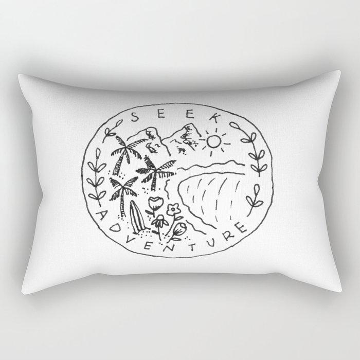 Seek Adventure Rectangular Pillow