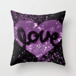Love Heart - Purple Throw Pillow