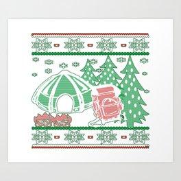 Camping Christmas Art Print