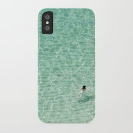 Naked swimming in Paradise iPhone Case