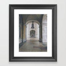 Terreiro do Paço. Lisbon, Portugal. Framed Art Print