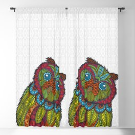 Colorful Owl Blackout Curtain