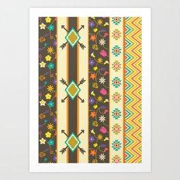 Aztec Pattern 3 Art Print