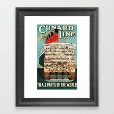Cunard Line Framed Art Print