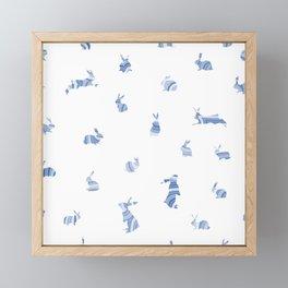 pattern with bunnies Framed Mini Art Print