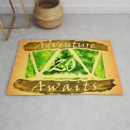D20 Adventure Awaits Watercolor Nature's Path Rug