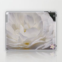 Simply White & Beautiful Flower by Aloha Kea Photography Laptop & iPad Skin