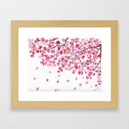 Rain of Cherry Blossom Framed Art Print