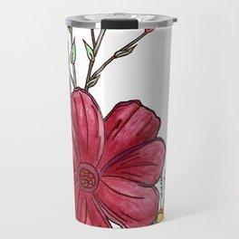 Wild Flowers Design Travel Mug