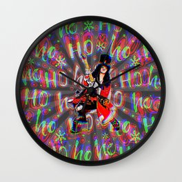Psychedelic Rock Christmas Wall Clock