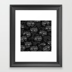 A Mob of Angry Cats Framed Art Print