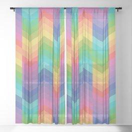 Arrow's Pattern Sheer Curtain