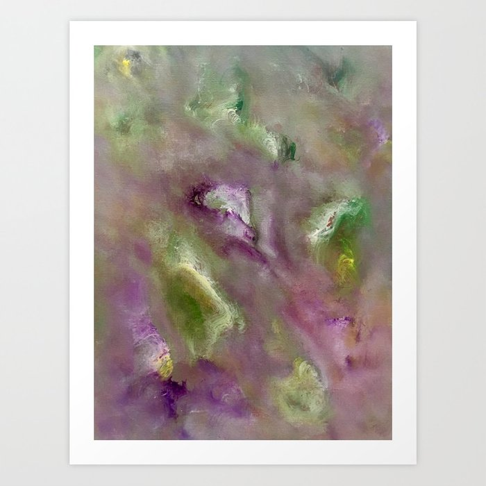 Abstract Flowers Acrylic Painting Art Print