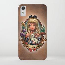 Follow The White Rabbit. iPhone Case