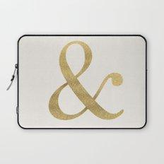 Gold Glitter Ampersand Laptop Sleeve