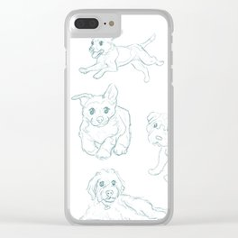 Dog Pack Clear iPhone Case