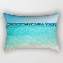 Blue Curacao Rectangular Pillow
