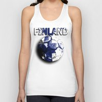 finland Tank Tops featuring Old football (Finland) by seb mcnulty