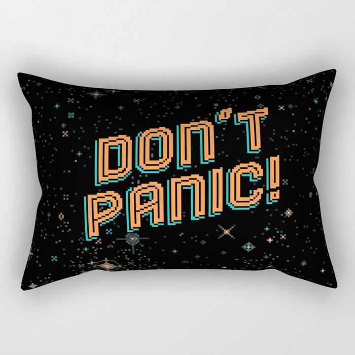 Don't Panic! Pixel Art Rectangular Pillow