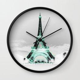 pariS Black & White + Mint Wall Clock