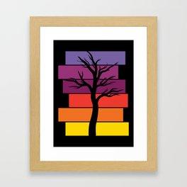 Tree Silhouette (Original) Framed Art Print
