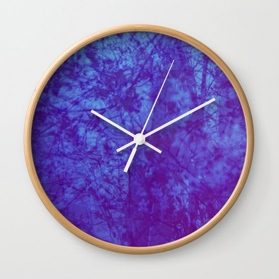 Pink & Purple Blossoms Wall Clock