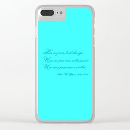 Rememberance, teal Clear iPhone Case