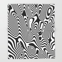 Trippy Background Throw Blanket