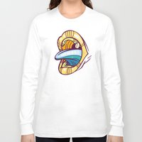 mouth Long Sleeve T-shirts featuring Mouth by Artistic Dyslexia