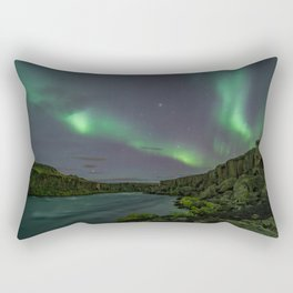 Godafoss Night 3 Rectangular Pillow