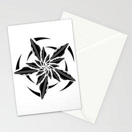 UFO spin - black Stationery Cards