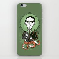 lovecraft iPhone & iPod Skins featuring Lovecraft Holy Writer by roberto lanznaster