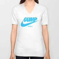 forrest gump V-neck T-shirts featuring Gump- JustDoIt IV by IIIIHiveIIII