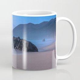 Ocean Tides - Mist Rolls in At Sunset in Big Sur Coffee Mug