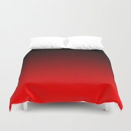 Black Red Neon Nights Ombre Duvet Cover