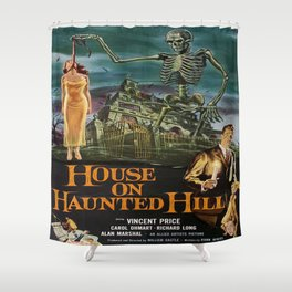 Vintage poster - House on Haunted Hill Shower Curtain